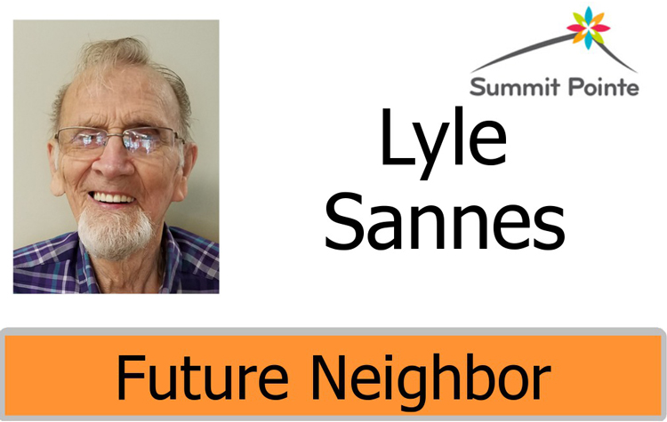 Summit Pointe Future Neighbor badge for Lyle Sannes