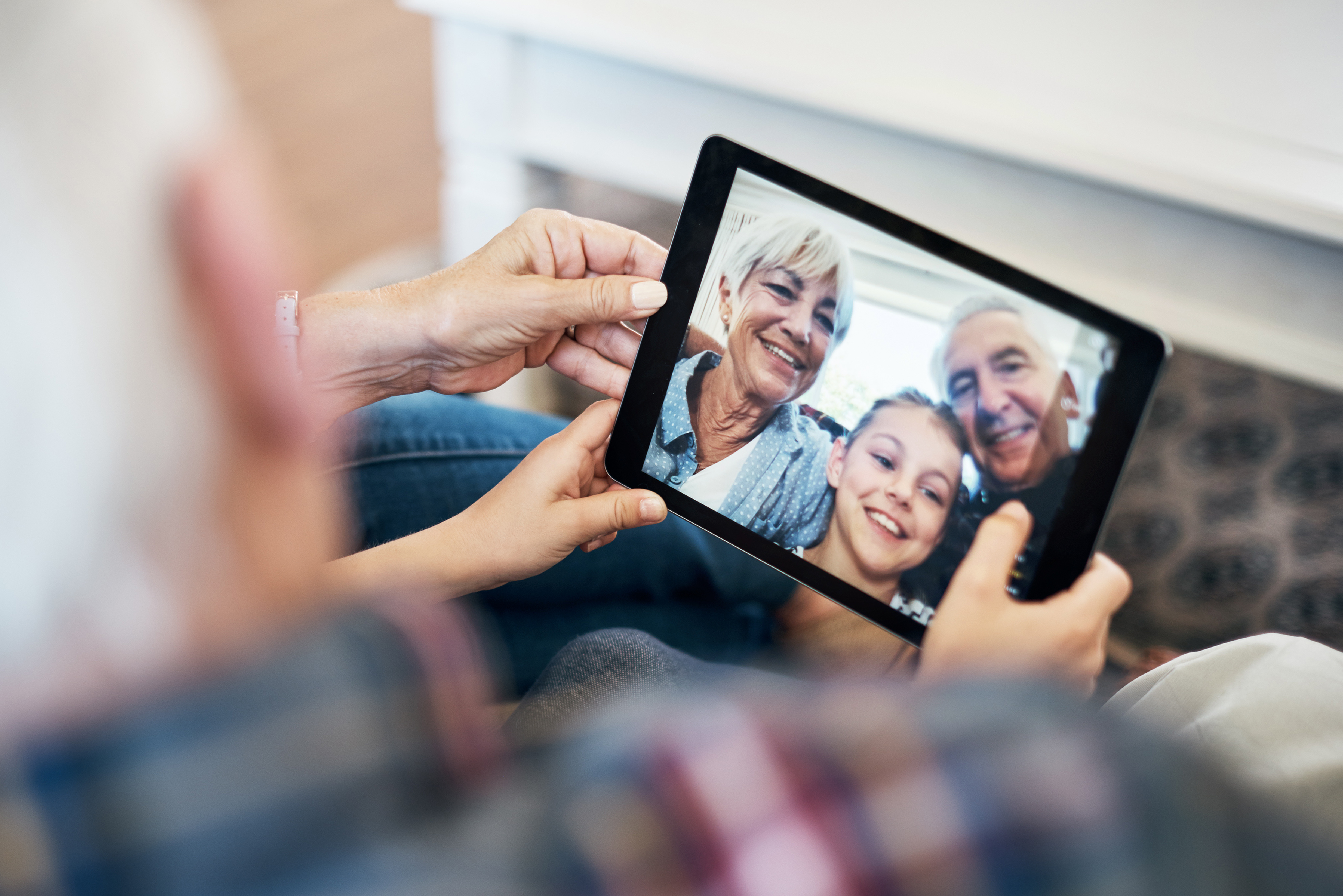 Using technology to stay connected with senior family members